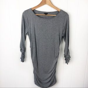 ❤️Ann Taylor•Grey rucked side tunic